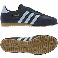 ADIDAS ORIGINALS BAMBA TRAINERS BLUE/SKY UK MENS SIZES 7 TO 11