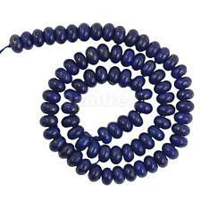 8/10mm Oval Blue Lapis Lazuli Gemstone Loose Bead Strand 15.5 Inches