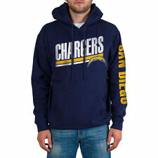 Men's Navy San Diego Chargers Sidestripe 2-Hit Pullover Hoodie - NFL
