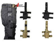 Tactical Military Pistol Drop Leg Thigh Holster Pouch Right or Left Hand 2 color