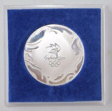 2000 SYDNEY OLYMPIC PARTICIPATION MEDAL IN DISPLAY CASE AND ORIGINAL BOX