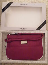 "Red Wristlet Pouch Purse by ""DENTS"" Gift Boxed - Brand New"