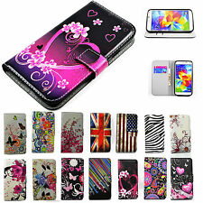 Wallet Slot PU Leather Skin Case Cell Phone Flip Cover Stand For Samsung Galaxy