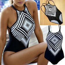 SEXY Women One Piece Monokini Bikini Push Up Pad Top Swimwear Swimsuit Bathers
