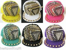 NICOLE LEE ADJUSTABLE PEARL,SILVER,GOLD,GRAY, SKULL METAL STUDDED HAT,CAP
