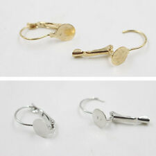 50-100Pcs Gold/Silver Plated French Earring Clip Findings DIY 20*12mm