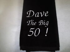 Personalised Birthday Golf Towel       ANY NAME ANY AGE (Great Gift)
