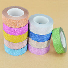 10M Self Adhesive Glitter Washi Masking Tape Sticker Craft Decor DIY Decorative