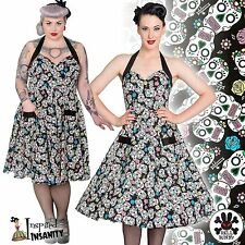 HELL BUNNY Calaveras ~ Psychobilly Sugar Skull Rockabilly 50s Dress ~ Plus Size