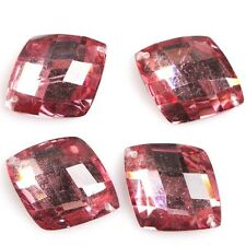 60/300pcs Clear Color Faceted Rhombus Charms Resin Flatbacks Sew On Buttons