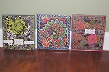 Vera Bradley SYMPHONY IN HUE or BAROQUE Sticky FORGET ME NOTS Note Desk Pad NEW
