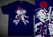 New Navy Scottie shirt Olympic air uptempo more pippen shoes cajmear M L XL 2XL