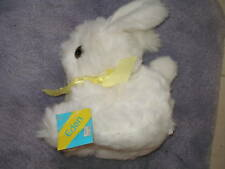 "VINTAGE 1980 EDEN EASTER BUNNY RABBIT WHITE SOFT PLUSH 11"" TALL NEW MWT"