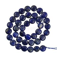 8/10mm Oval Blue Lapis Gemstone Loose Bead Charms Strand Jewelry Making DIY