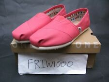 WOMENS TOMS CLASSIC SLIP ON SPICED CORAL CANVAS 10008988