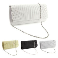 Sparkle Glitter Pattern Satin Women Clutch Bag Bridal Handbag Evening Prom Purse