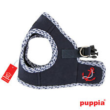 Any Size - PUPPIA - ATTICUS - Soft Dog Puppy Harness Vest - Navy Blue