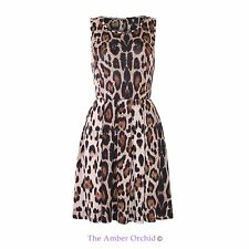 Ladies Womens Celeb Inspired Leopard Printed Skater Dress Flared Party Top