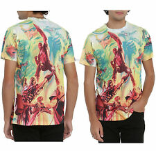 MARVEL COMICS 75TH ANNIVERSARY ALEX ROSS ART Sublimation Men's TEE T-SHIRT S-L