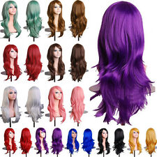 Cosplay Wigs Curly Wave Straight Pink White Black Orange Grey Synthetic Full Wig