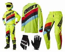 Shift Whit3 Tarmac MX Combo Motocross Enduro Cross Trousers and Jersey