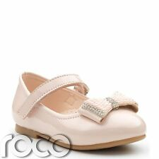 Baby Pink Shoes, Baby Girls Shoes, Bow Shoes, Pink Dolly Shoes