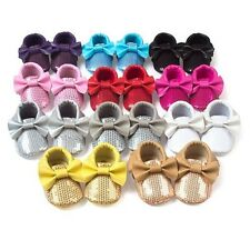 Baby Infant Crib Shoes Sequin Butterfly Soft Sole Moccasin Newborn 0-18 Month