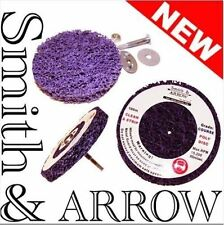 """2x 100mm 4"""" POLY STRIP DISC DRILL AIR TOOL WHEEL PAINT RUST REMOVAL CLEAN METAL"""