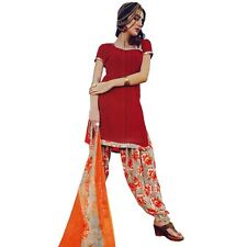 Ready To Wear French Crepe Printed Salwar Kameez Suit Indian Dress-Milly-3016