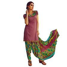 Ready To Wear French Crepe Printed Salwar Kameez Suit Indian Dress-Milly-3014
