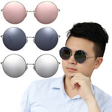 Men Retro Style Fashion Round Lens Metal Frame Sunglasses Outdoor Shades Eyewear