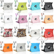 For Apple iPad 2 3 4 360 Rotating Magnetic PU Leather Case Smart Cover Stand