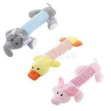 Squeaker Squeaky Sound Dog Chew Toy Pet Dog Puppy Cat Play Plush Stripe Animals