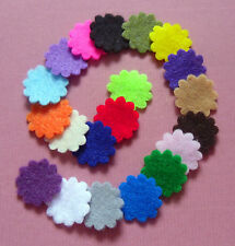 -:- Iron-On Flower Shapes -:- Felt Die-Cuts x20/25 - Crafting etc. 30+ Colours