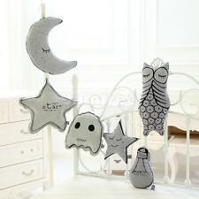 Glowing Cushion Soft Baby Comforter Toy Nursery Decor Moon Star Owl Lamp Bulb