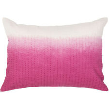 Handmade Abstract Pattern Cotton Pink Throw Pillow