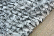 C68 BOILED WOOL-CASHMERE-ACRLIC NATURAL ECRU & LIGHT GREY CHUNKY HEAVY SEED KNIT