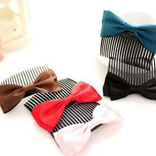 Fashion Women Girls Large Big Satin Hair Bow Hair Clip Boutique Ribbon Bow s5