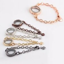 DIY Vogue Crystal Living Memory Locket Bracelet For Floating Charms Jewelry Hot