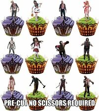 Halloween Zombie Party Pack - Fun Fully Edible Cup Cake Toppers Decorations