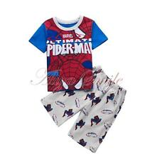 Spiderman Baby Boys Cotton Tops Pants Kids Super Hero Costume Pajamas Sleepwear