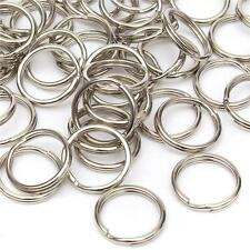 TOP QUALITY 25mm STEEL NICKEL PLATED KEYRING DOUBLE SPLIT RINGS 10,20,50,100,200