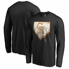 Colorado Rockies Home Plate Collection Long Sleeve T-Shirt - Black - MLB