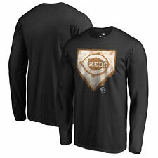 Cincinnati Reds Home Plate Collection Long Sleeve T-Shirt - Black - MLB