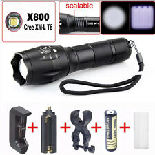 3000 Lumens 5 Modes CREE XML XPE LED 18650 Flashlight Torch Lamp+Charger+ Batery