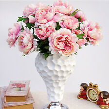 5 Heads Artificial Silk Peony Flowers Bridal Hydrangea Party Wedding Decor Home
