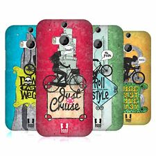 HEAD CASE DESIGNS BICYCLE LOVE HARD BACK CASE FOR HTC ONE M8
