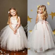 Girl Communion Party Prom Princess Pageant Bridesmaid Wedding Flower Xmas Dress