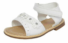 Little Small Girls Patent White Velcro Strap Summer Sandals Size 6 7 8 8.5 9 10