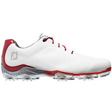 FootJoy DryJoys DNA Closeout Golf Shoes - White/Red - 53424 - BNIB - Spiked -NEW